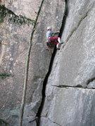 Rock Climbing Photo: Amy S seconding Jolly Green Giant