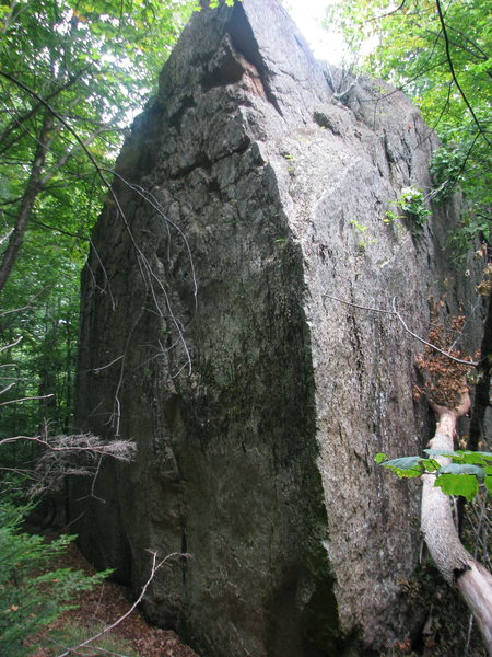 40 foot Dunn boulder below the main cliff