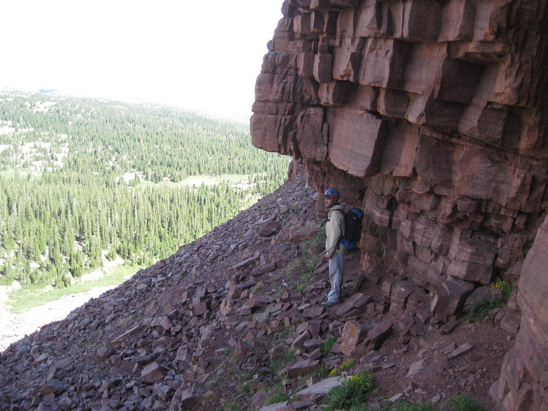 Rock Climbing Photo: Much of the base of the wall looks like this.