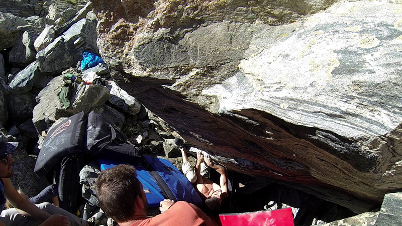 Rock Climbing Photo: Andrew Riley on the third ascent of Sweet Amarillo...