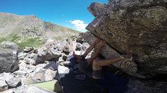 Rock Climbing Photo: Abner Albino on rail of Crach Loch.