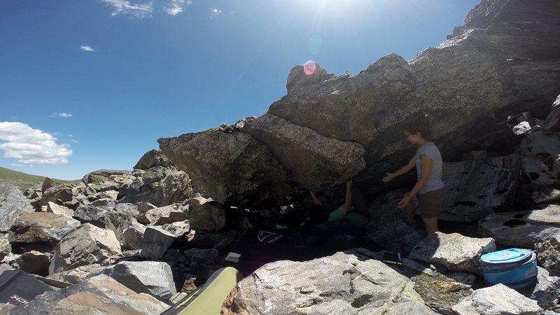 Rock Climbing Photo: Boris on the start of Crach Loch.