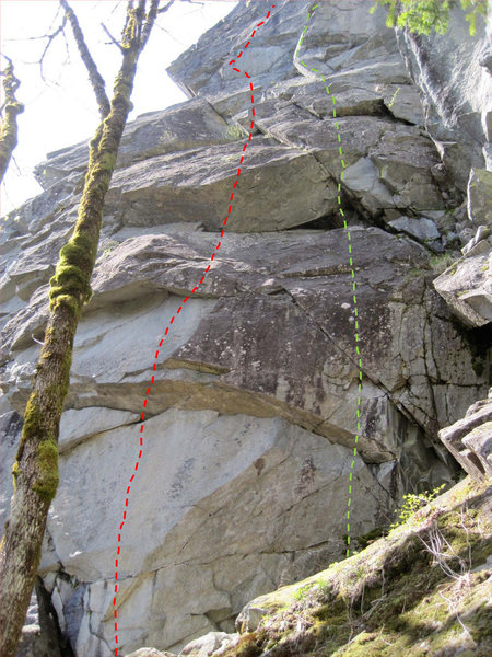 Rock Climbing Photo: Hidden Dragon is on the left.
