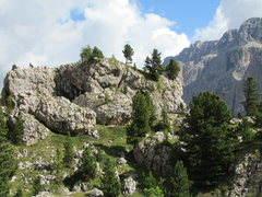 Rock Climbing Photo: First view one obtains from the trail/4-WD road lo...