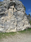 Rock Climbing Photo: Closeup view of the roadside rock; I counted at le...