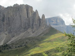 Rock Climbing Photo: The Sella Towers from Steinerne Stadt.