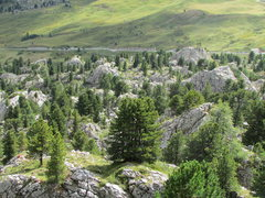 Rock Climbing Photo: An overall view from the track above the Sassolung...
