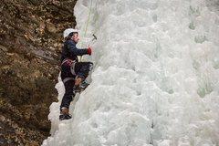 Rock Climbing Photo: Top Roping 'Dryer Hose' at Munising, Mi