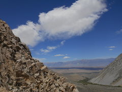 Rock Climbing Photo: view out from Scheelite Wall, May 31, 2014