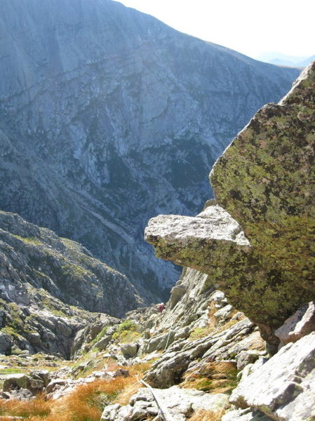 Rock Climbing Photo: Looking down from the fifth pitch...