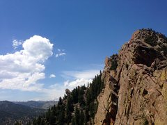 Rock Climbing Photo: Topping out on Rewritten. Photo courtesy of Michae...