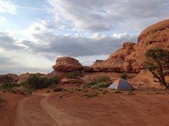 Rock Climbing Photo: Hamburger Rock CG near Indian Creek UT.