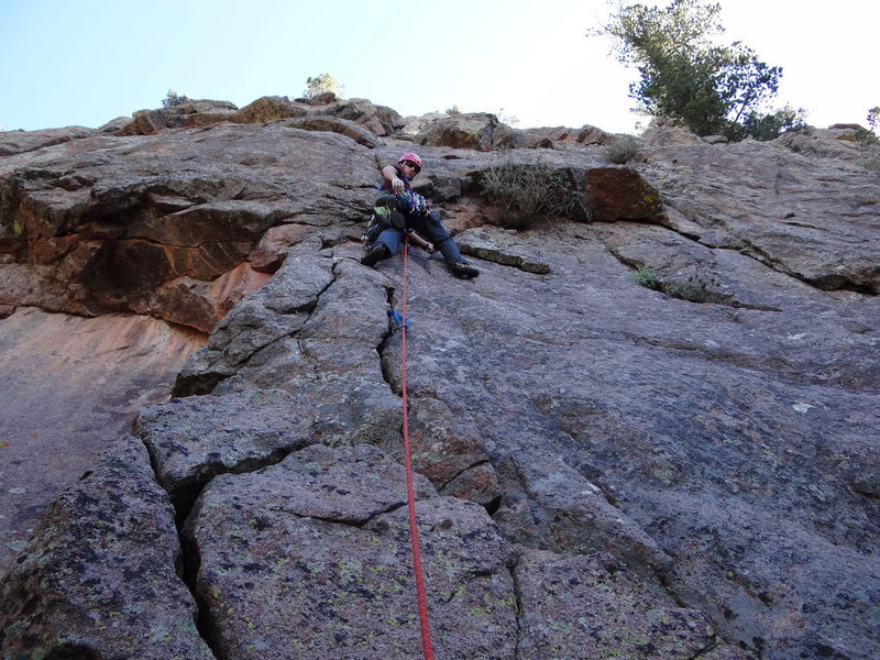 Rock Climbing Photo: At the start of p1
