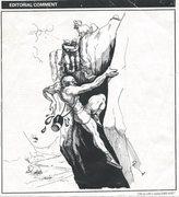 Rock Climbing Photo: Grease soloing. (1980's Mountain Mag. cartoon)