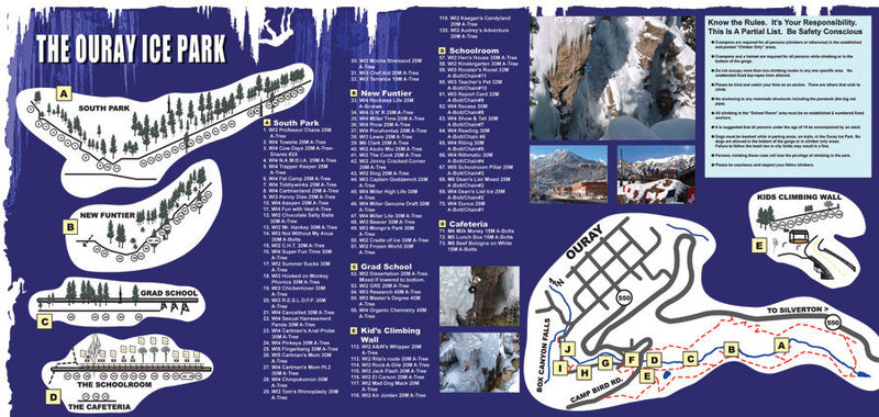 Rock Climbing Photo: 2014 Ice Park map.