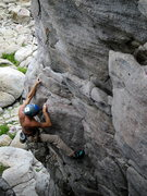 Rock Climbing Photo: Paul with his right hand in the flaring slot (low ...