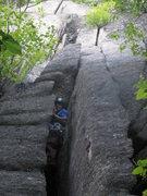 Rock Climbing Photo: Amy on the FA