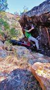 Rock Climbing Photo: Start beta of Sweet Nothing.
