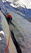 Rock Climbing Photo: Kelvin near the top of Pitch 6