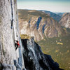 Training run up Half-Dome to rehearse movement, gear beta, free-climbing beta, etc.  for the Link-Up.