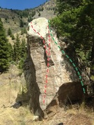 Rock Climbing Photo: Sweet Lip in red Grounded in Growth in green