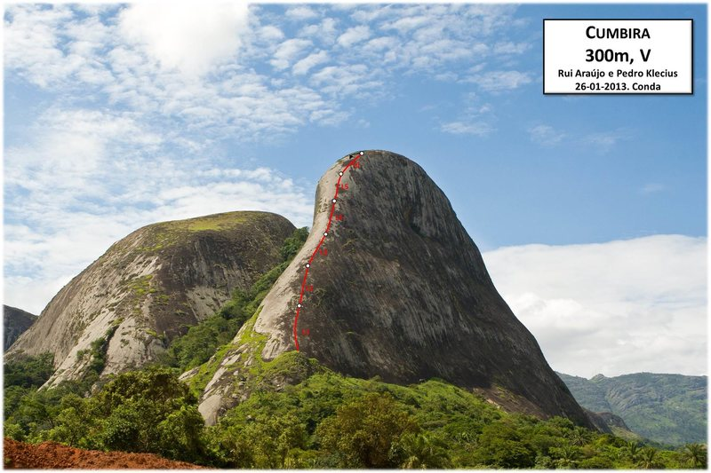 Rock Climbing Photo: Topo: R. Araujo