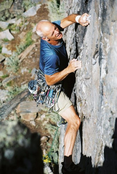 Rock Climbing Photo: FFA by Dr. Dan of MPO (Mo's Pissed Off), 12a/b, AK...