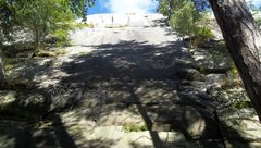 Rock Climbing Photo: Rough picture of the Central Section, highest at a...