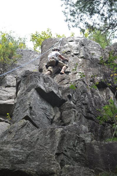 Rock Climbing Photo: Corner Line