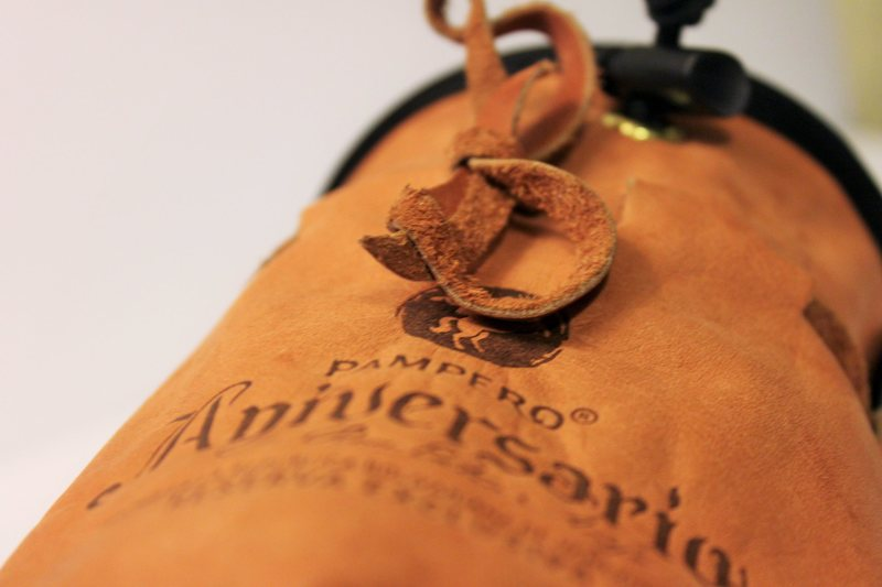 Nicaraguan leather rum bag