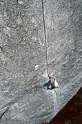 Rock Climbing Photo: Peter Croft free solo  Photo taken by Greg Epperso...