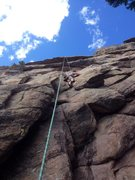Rock Climbing Photo: Photo from south face, center of new bolted routes