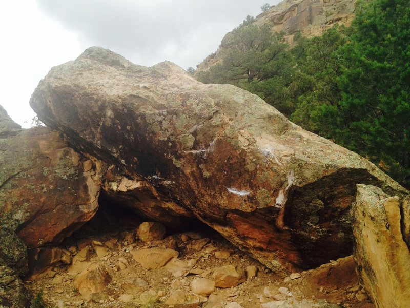 West face of Moral Humidity Boulder.