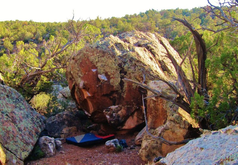 Rock Climbing Photo: North face of Austere Boulder.