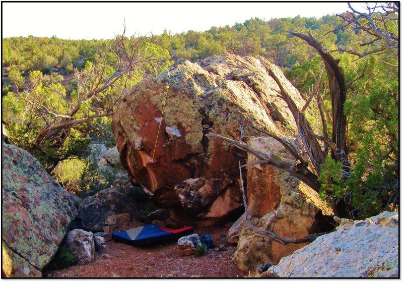 Rock Climbing Photo: Opaline Scene problem beta.