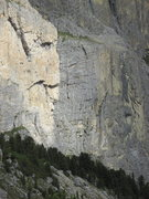 Rock Climbing Photo: Contrasting light clearly delineates the two major...