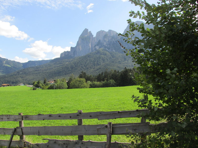 Peaks of the Sciliar-Catinaccio above Schlern. These are the Northern outliers of the Catinaccio Group.