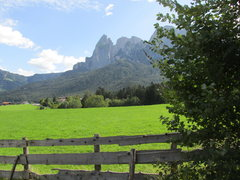Rock Climbing Photo: Peaks of the Sciliar-Catinaccio above Schlern. The...