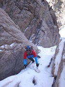 Rock Climbing Photo: Climbing into one of the mixed steps above Lamb's ...