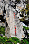 Rock Climbing Photo: 5.5 descent off the Olmsted Crack (V1)