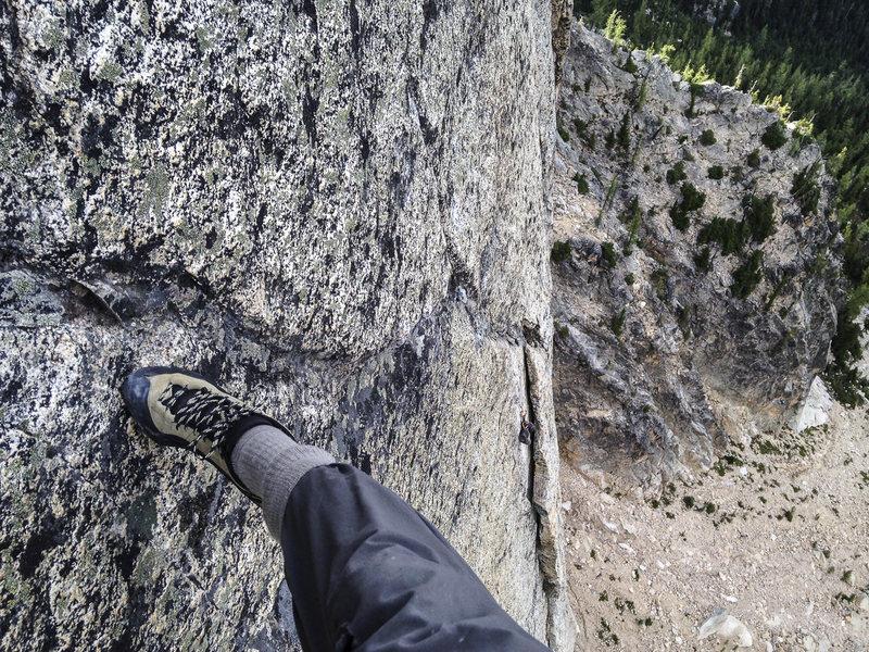 Rock Climbing Photo: 5.12- Crux of P5