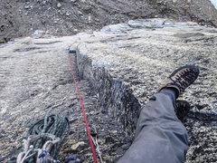 Rock Climbing Photo: Pitch 4 corner
