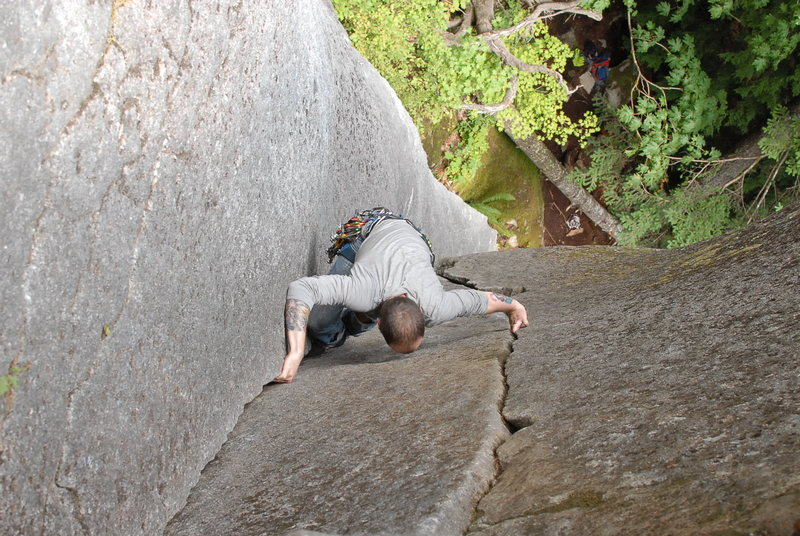 Rock Climbing Photo: Ben pulling through the upper section of Senior Ci...