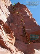 Rock Climbing Photo: Route Overlay Cooler than Jesus