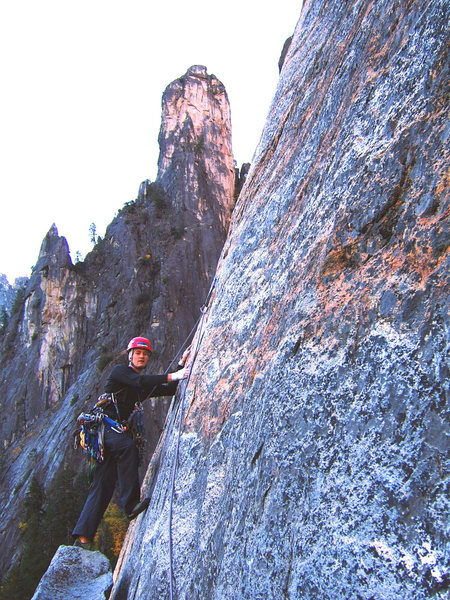 Rock Climbing Photo: East Buttress of Middle cathedral rock