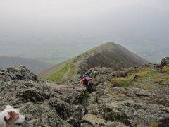 Rock Climbing Photo: The trail up Halls Fell Ridge