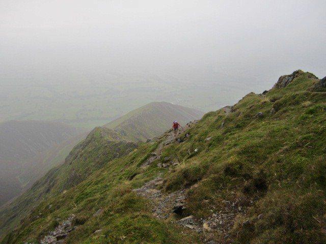 Halls Fell Ridge. A very direct hike from the small village of Threlkeld near Keswick