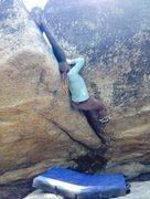Rock Climbing Photo: Christina starting the OW