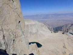 Rock Climbing Photo: looking back down to Iceberg Lake
