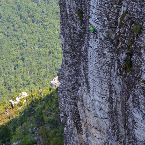 Rock Climbing Photo: Pushing through the last baby roofs